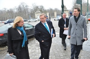 lucinda creighton and enda kenny at a frosty morning reception
